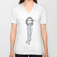 kevin russ V-neck T-shirts featuring ABOUT KEVIN by yosoydan