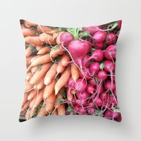 vegan Throw Pillows featuring vegan treasure by Ariadne