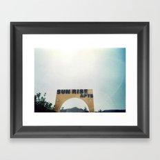 Sunrise Apartments Framed Art Print