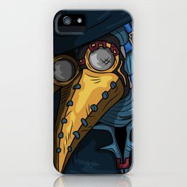 Plague Blue Doctor iPhone Case