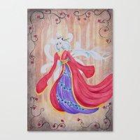 kitsune Canvas Prints featuring Kitsune by marquisdusoleil