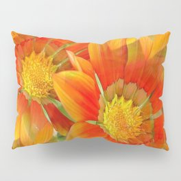 Seamless Vibrant Yellow Gazania Flower Pillow Sham