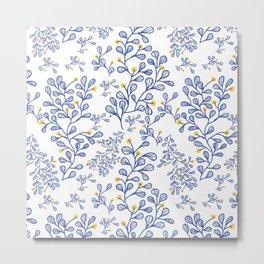 Petite mon amour blue Metal Print