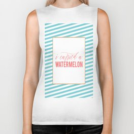 Watermelon Quote, I Carried a Watermelon, Fun Prints, Funny Quotes, Watermelon Poster, Funny Poster Biker Tank