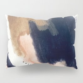 Drift Away [2] - a mixed media abstract piece in pink, brown, and purple Pillow Sham