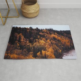 Beautiful Autumn Forest Orange & Brown Leaves Rug