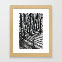 'Trees and Shadows' Framed Art Print