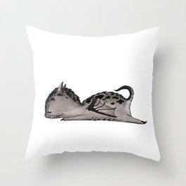 Drooling dragon Throw Pillow