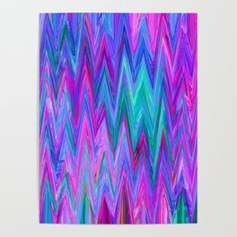 Holographic Mountains Poster