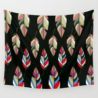 revolution Wall Tapestries featuring FEATHER REVOLUTION by d.ts