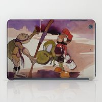 ninja turtle iPad Cases featuring ninja turtle and mario by joseph Leonard