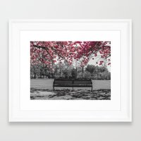 cherry blossom Framed Art Prints featuring Cherry Blossom by Claire Doherty