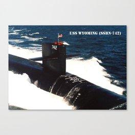 USS WYOMING (SSBN-742) Canvas Print