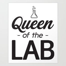 Queen Of The Lab Art Print