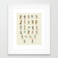german Framed Art Prints featuring German ABC by Paola Zakimi