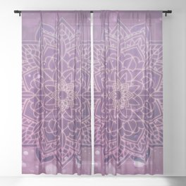 Mystical Mandala Sheer Curtain