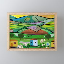 Tea Plantation Framed Mini Art Print