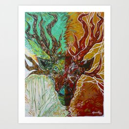 Forest Sage Art Print