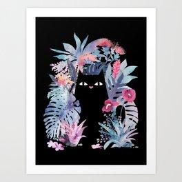 Popoki (Pastel Black Velvet) Kunstdrucke