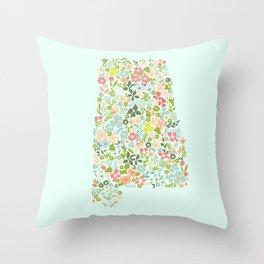 Alabama Florals Throw Pillow