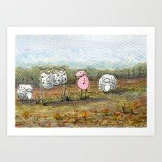 Skippy's Wardrobe Art Print