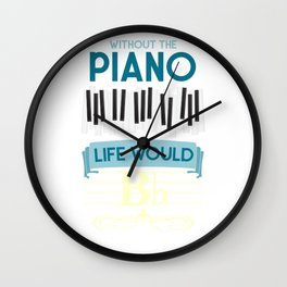 Funny Pianist Wall Clock