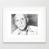 picasso Framed Art Prints featuring Picasso by Brad Markley