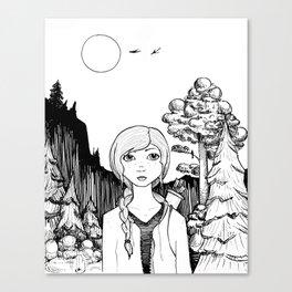 Katniss's Silver Lining Canvas Print