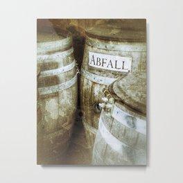 Wooden old German wine barrels Metal Print