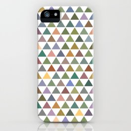 Geometric Triangles - Natural Tones iPhone Case