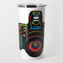 Black Camera Travel Mug