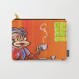Coffee Girl Ape Ponders Her Day. Carry-All Pouch