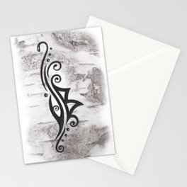 Berkana Rune in Tribal Tattoo Style Stationery Cards