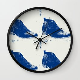 """""""Delft Blue"""" Suede Shoes Wall Clock"""