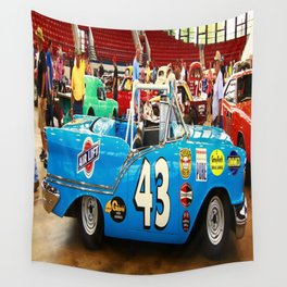 Supped Up Blue Convertible Wall Tapestry