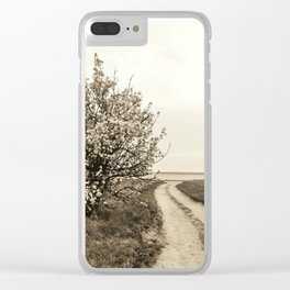 Spring tree in full bloom Clear iPhone Case