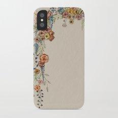 floral print iPhone X Slim Case