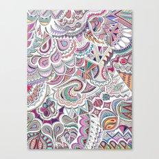 Doodles in Colour Canvas Print