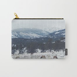 Elk herd in the Rockies Carry-All Pouch