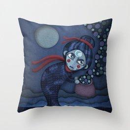 A Night Mama Throw Pillow