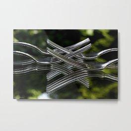 geometry of forks  Metal Print