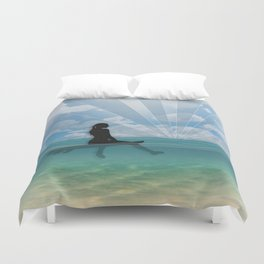View from a Surfboard Duvet Cover
