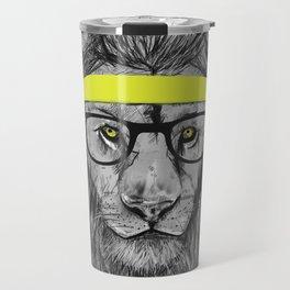 hipster lion Travel Mug