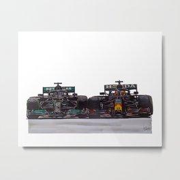 Hamilton & Verstappen Metal Print