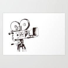 vintage filming Art Print