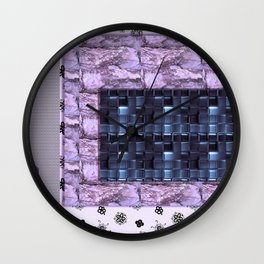 texture for interior decoration purple Wall Clock