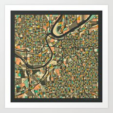 KANSAS CITY MAP Art Print