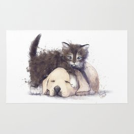 Kitten and Puppy Rug