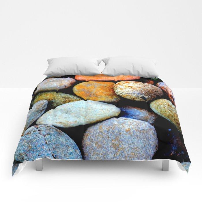 Like Pebbles on the Beach Comforters