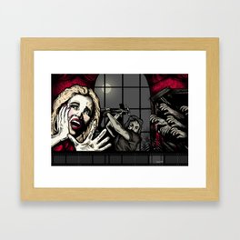 From the Window to the Walls: The Inevitable Zombie Apocalypse  Framed Art Print